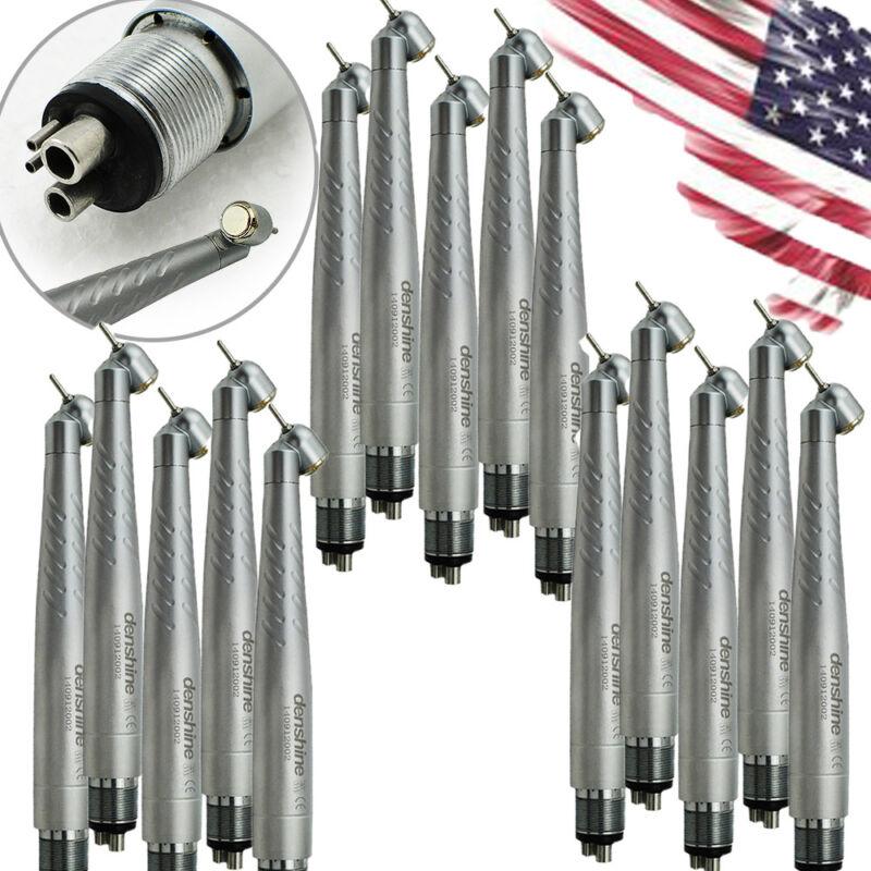 15x Dental 45° Surgical Single Spray 4-Hole Head Handpiece Standard Push Button