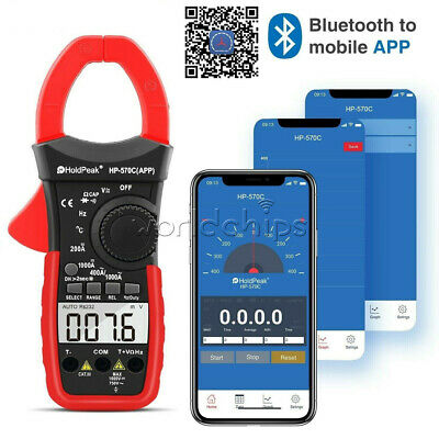 Digital Clamp Meter Dc Current 4000 Counts Acdc Volt 1000a Handheld Tester