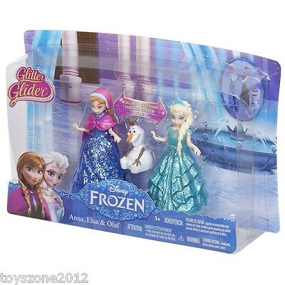 Disney Frozen Glitter Glider Anna, Elsa and Olaf Figure Set