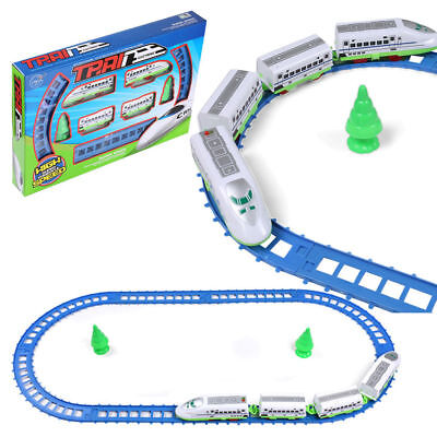 14PCS Electric Bullet Train Track & Tree Play Set Kids Toy Music Light Xmas Gift