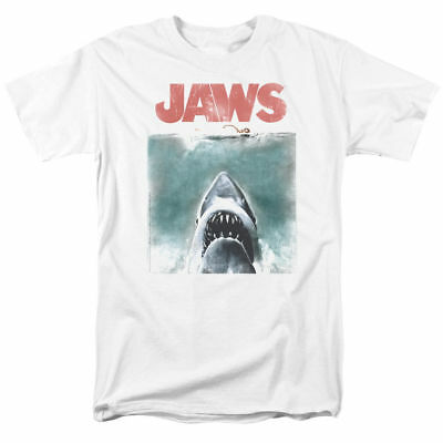 Adult Movi (Jaws Movie Tee Shirt Vintage Shark Attack Licensed Adult T Shirt Gift Idea -)