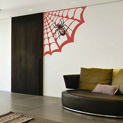 Spider Web Wall Sticker Halloween Inspired Child Baby Room Vinyl Art Decor Idea](Halloween Decor Ideas)