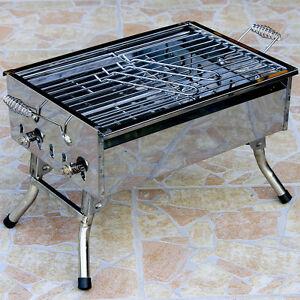 gartengrill barbeque aus edelstahl picknick holzkohle und klappgrill wetlif2051 ebay. Black Bedroom Furniture Sets. Home Design Ideas