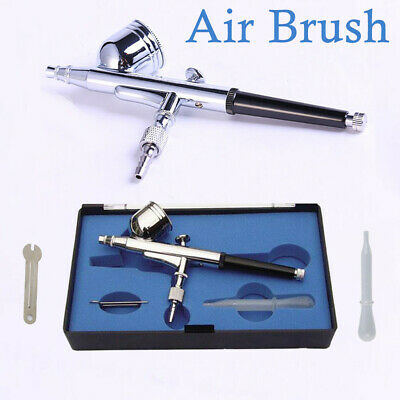 0.3MM GRAVITY FEED DUAL-ACTION AIRBRUSH KIT SET AIR BRUSH TOOL UK HD-130