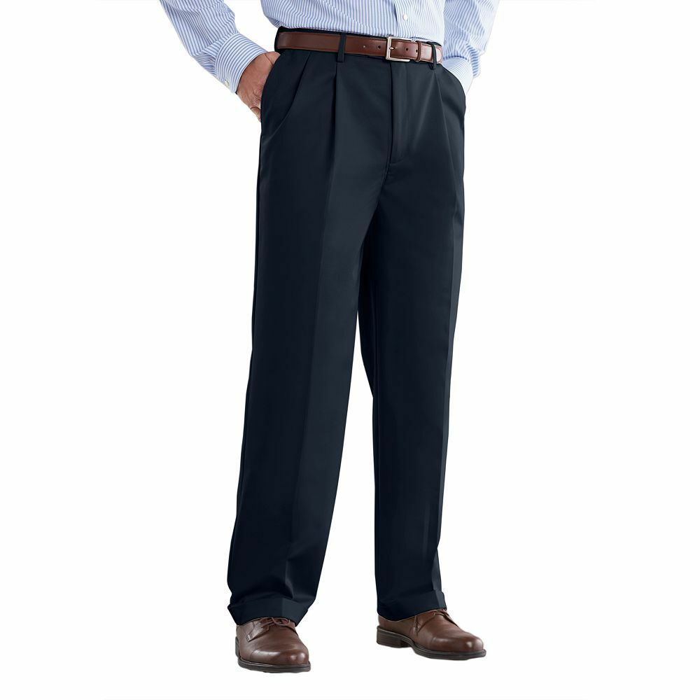 New Croft & Barrow Men Classic-Fit Pleated Microfiber Dress Pants Size 36-40 $55
