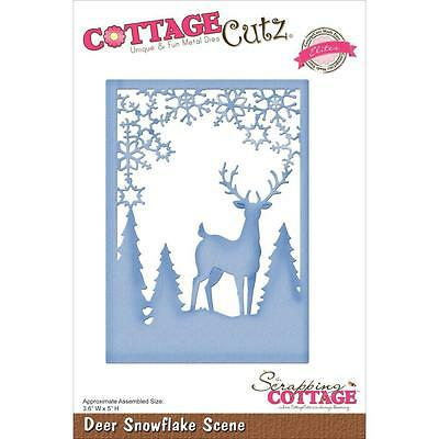 CottageCutz Elites Die ~ Deer Snowflake Scene, Assembled 3.6
