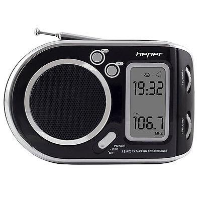 RADIO MULTIBANDA DIGITALE SVEGLIA PORTATILE DIGITALE AM FM SOUNDY ALTOPARLANTE