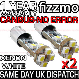 2-x-8-LED-233-BA9S-T4W-CANBUS-NO-ERROR-FREE-SIDE-LIGHTS