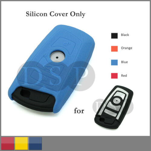 Leather Texture Silicone Cover fit for BMW New 5 Series Smart Key Case 4B 4C BL