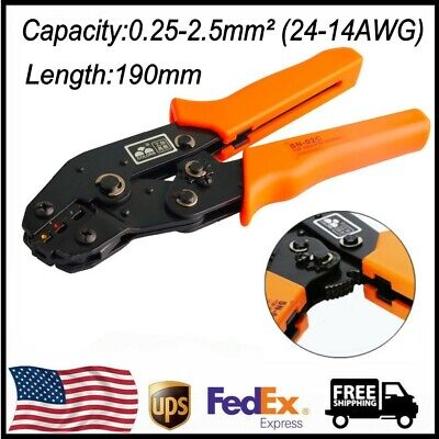 Terminal Crimping Pliers Car Connector Tool Sn-02c Tab 0.25-2.5mm 24-14awg Us