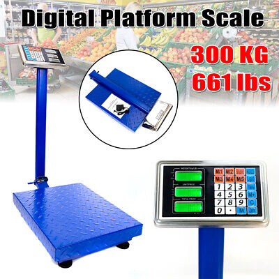 Heavy Duty 300kg660lb Weight Computing Digital Floor Postal Platform Scale
