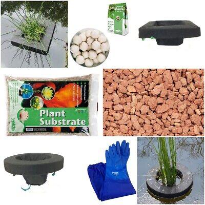 Floating Pond Planter Kit Small Pond, Baskets, Substrate, Gloves & Fertilizer