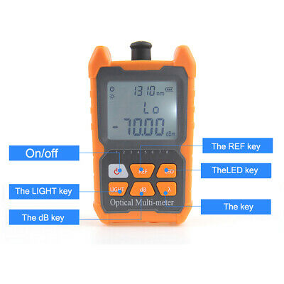 Ftth Fiber Optical Power Meter 8 Wavelengths With Led Light Network Cable Tester