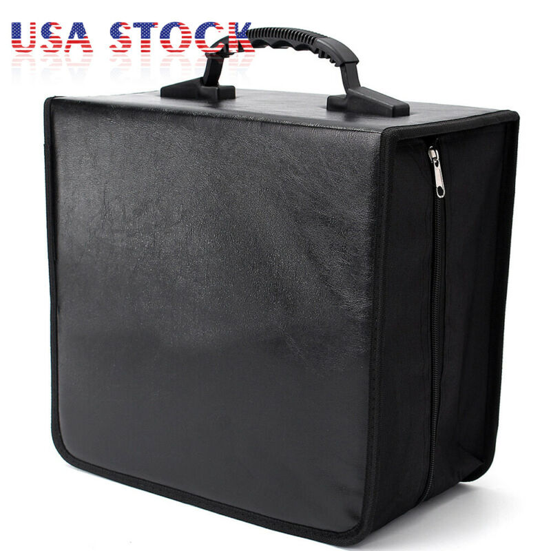 400 Disc CD DVD Album Storage Bag Organizer Holder Media Carrying Case Black