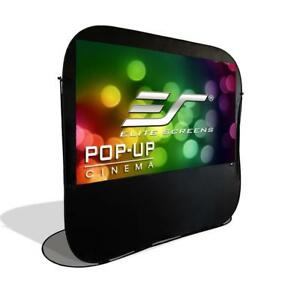 New  Elite Screens Pop-up Cinema Series, 84-Inch 16:9, Portable Spring-Famed Indoor Outdoor Projection Screen, POP84H