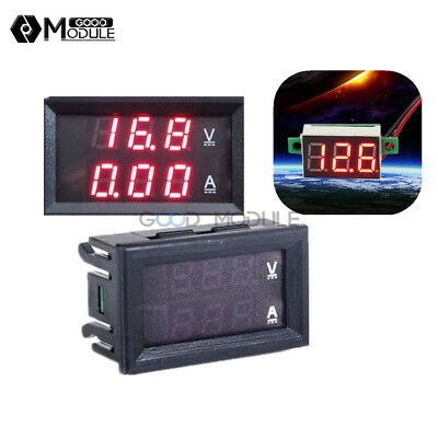 Dc 100v 10a Dual Digital Led Amp Red 3 Digit Led Voltmeter Ammeter Voltage Meter