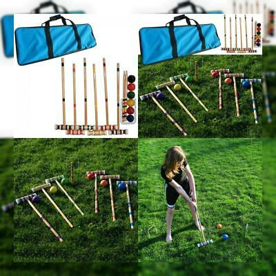Trademark Global Croquet Set with Carrying Case Various Licenses Free Shipping