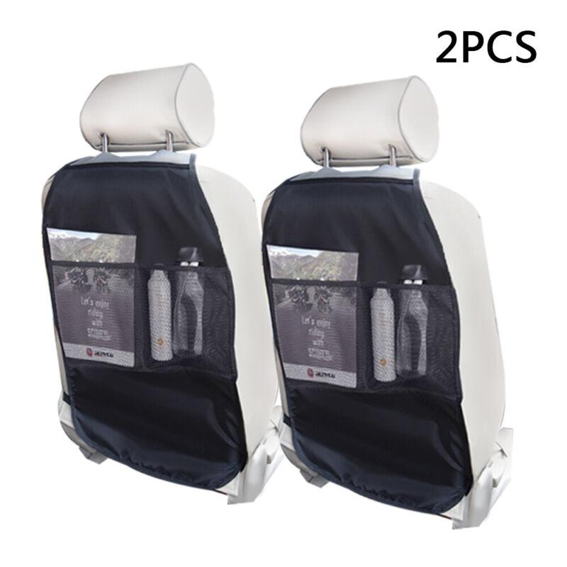 2 Pack Kick Mat Car Seat Back Cover Protector Backseat Mesh Organizer Waterproof