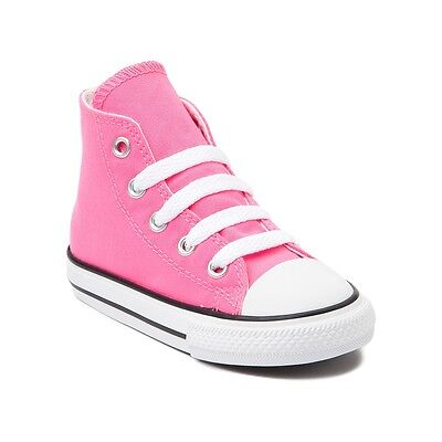 Infant Converse All Star (Converse All Star Hi Chucks Infant Toddler Pink Canvas Shoe 7J234 Free)