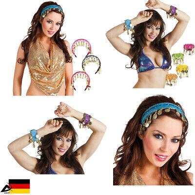 Bauchtanz Haarreif Belly Dance Haarschmuck Armband Kostüm Karneval - Tanz Kostüm Haarschmuck