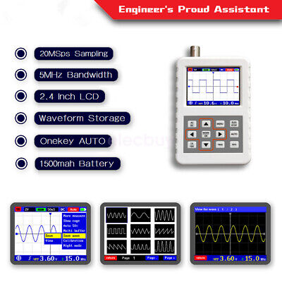 2.4 Inch Lcd Handheld Digital Oscilloscope Dso Pro 5mhz 20msas Build-in Battery