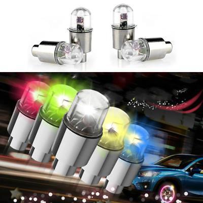 4x Universal MULTI-COLOR LED Wheel Tyre Tire Air Valve Stem Cap Light Lamp Bulbs - Multi M5 Led