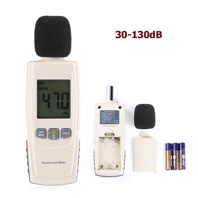 30-130db Noise Measurement Sound Pressure Level Meter Tester Lcd Digital Display
