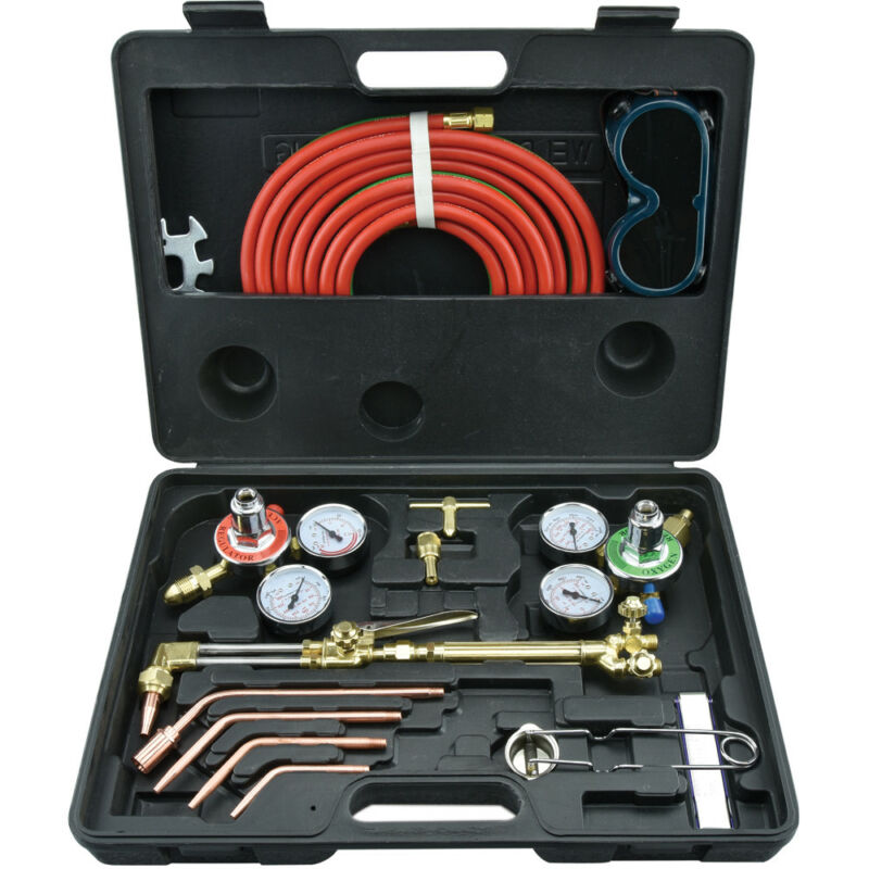 Portable Gas Welding & Cutting Torch Kit | Victor Type Oxygen Acetylene Set