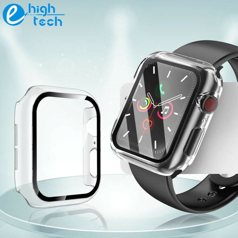 For Apple Watch Series 6/5/4/SE 40/44mm iWatch Case Cover Full Screen Protector