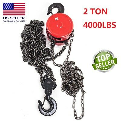 2 TON CHAIN PULLER BLOCK FALL CHAIN LIFT HOIST HAND TOOLS CHAIN WITH HOOK