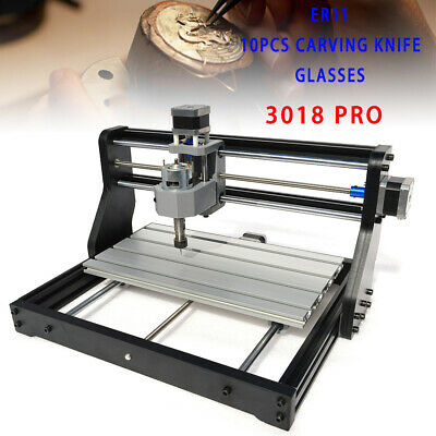 Cnc 3018 Pro Machine Engraving 2in1 Pcb Wood Diy Mill Cutter500mw Laser Er11 Ce