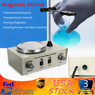 79-1 1000ml Hot Plate Magnetic Stirrer Lab Heating Mixer Temperature Speed