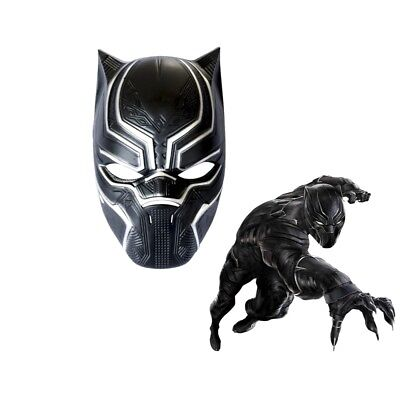 Halloween Party Movie (Black Panther Avengers Superhero Mask Adult Halloween Party Movie)