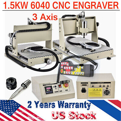1.5kw 3 Axis Cnc 6040 Router Engraver Woodworking Milling Machine 3d Cutter Rc