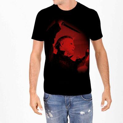 Halloween 2 1981 Michael Myers (Rock Rebel Halloween Michael Myers 1981 Horror Movie T Shirt UH2-1981 size)