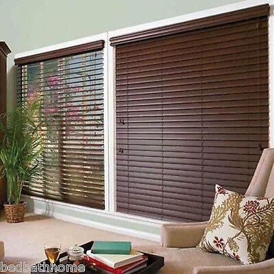 $26.97 - NEW Achim Home Furnishings Madera Falsa 2-Inch Faux Wood Blind - Mahogany