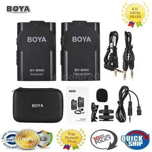 BOYA BY-WM4 2.4GHz Wireless Lavalier Lapel Microphone MIC for Sony Canon Nikon