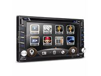 6.2 inch Double Din Screen Car CD AUX Bluetooth Stereo GPS DVD USB SD Player + Screen Mirroring