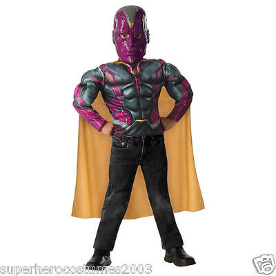Avengers Age of Ultron Vision Muscle Top and Mask Costume Set Size 4-6 NEW ()