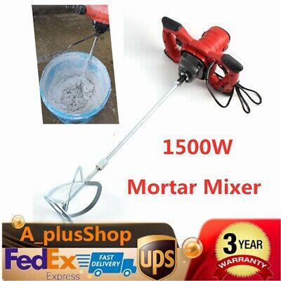 1500w Handheld Electric Concrete Cement Mixer Mortars Grouts Mixing 2 Speed