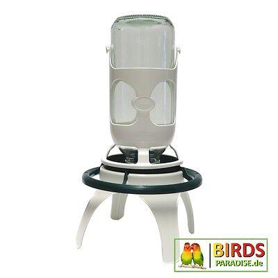 Futter- und Wasserautomat mit Ständer - Tränke Volierentränke für Vögel