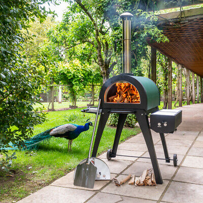 Cove - Green Machine Stone Base Wood Fired Outdoor Pizza Oven and BBQ, Ovens