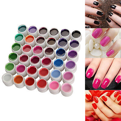36 Nail Art UV Gel Set Farb gel Effekt-Gele Nagel Design Für Fingernägel Neu