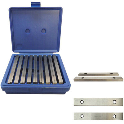 Steel Parallel Set 9 Pair 1/4 inch Thick 6 inch Long 0.0002 inch Precision