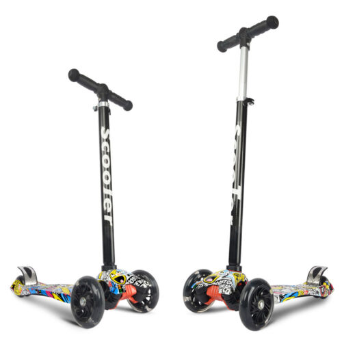 Folding Kids Scooter Portable Adjustable Kick Scooters 3-Whe