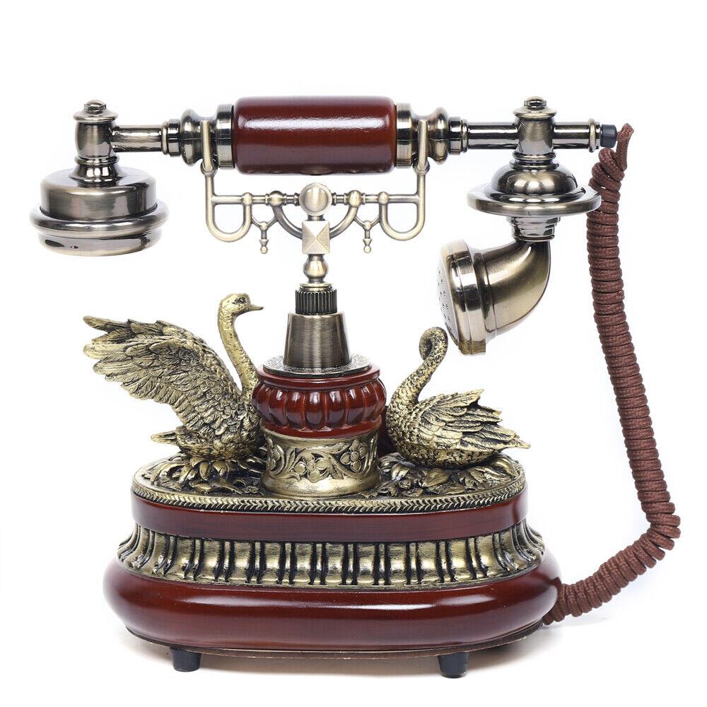 Retro Desktop Festnetztelefon Antik-Telefon Haustelefon Nostalgie Tischdeko DHL