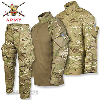 BRITISH ARMY PCS SET TROUSERS SHIRT UBACS MTP MULTICAM ISSUE UNIFORM USED
