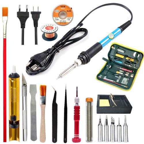 Adjustable Temperature Electric Soldering Iron Kit Desoldeir