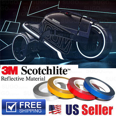 3m Reflective Safety Self-adhesive Diy Striping Tape Sticker Decal 150ft Roll