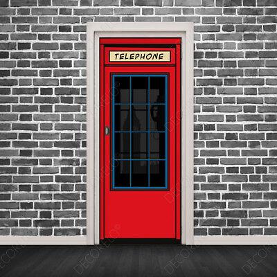 Vinilos para Puertas - Cabina Telefónica Inglesa de Londres - Adhesivo Removible